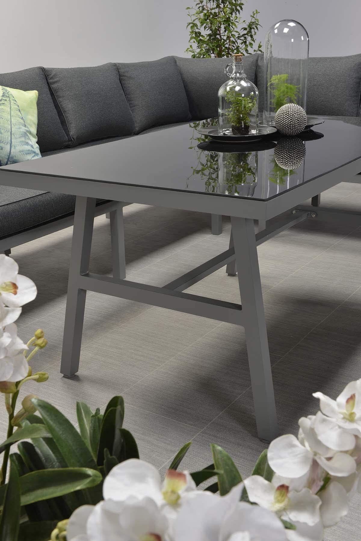 Amazon De Garden Impressions Hohe Dining Aluminium Lounge Blakes Anthrazit Rechts Inklusive Xl Bank Und Wasserabweisender Kisse In 2021 Sitzgruppe Gartenmobel Lounge