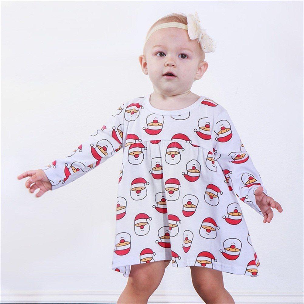330fcfc00 Niños recién nacidos del bebé niñas princesa vestidos de Navidad .