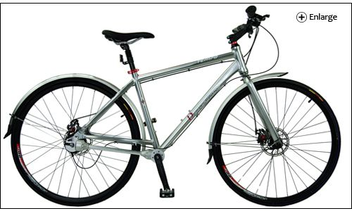 Dynamic Tempo 8 Chainless Hybrid Commuter Bicycle Commuter