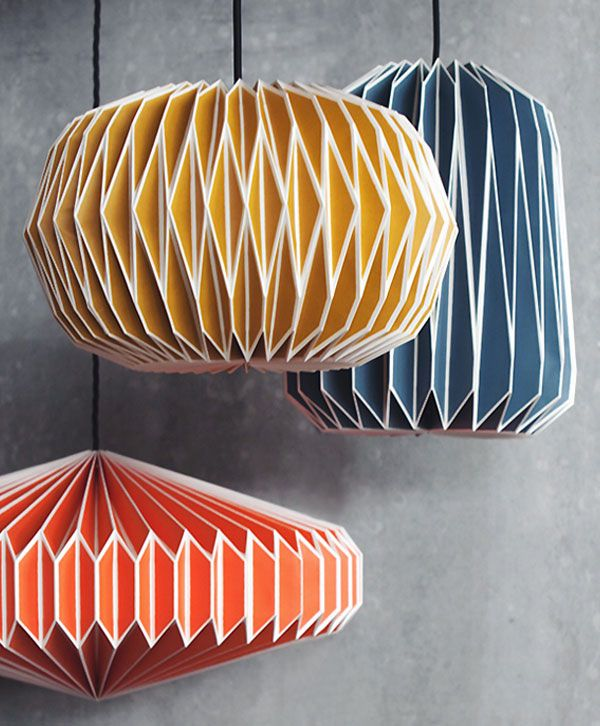 Origami Light Shades: Geometric Paper Lamp Shades | Origami