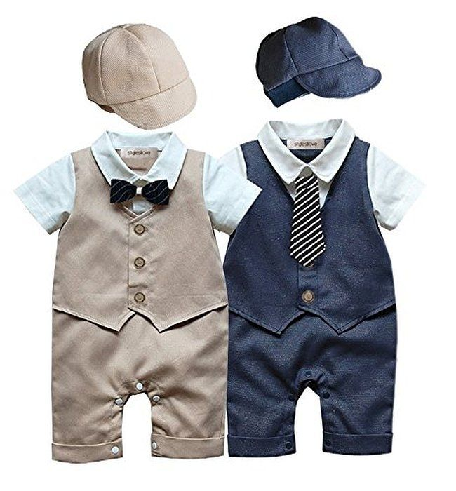 Robot Check Boy Outfits Boys Romper Baby Boy Shorts