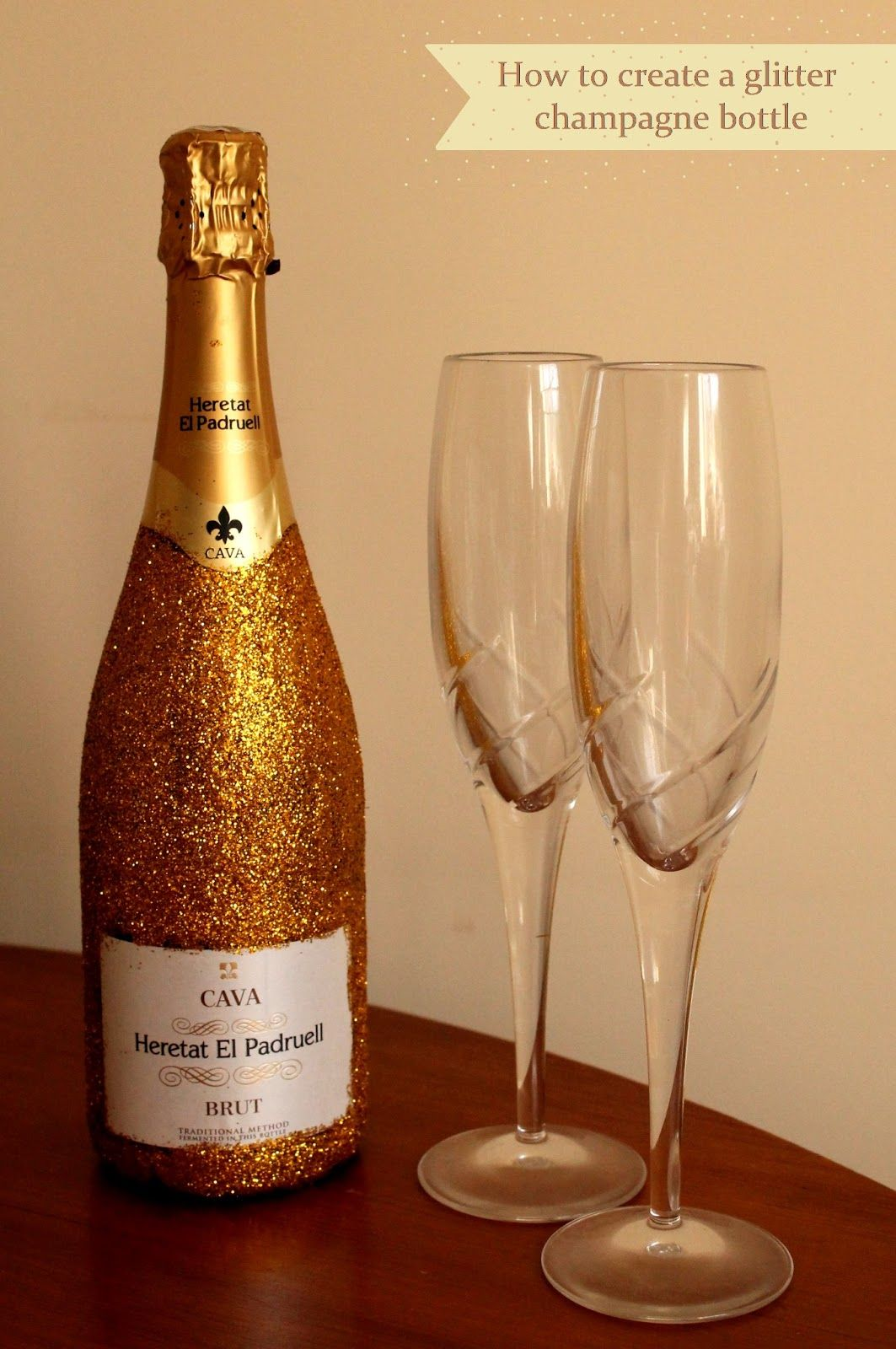 How to make a bottle of champagne for the new year 54
