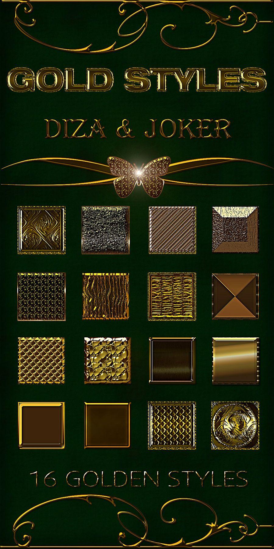 Gold styles - 7 by DiZa-74 deviantart com on @DeviantArt   Gold