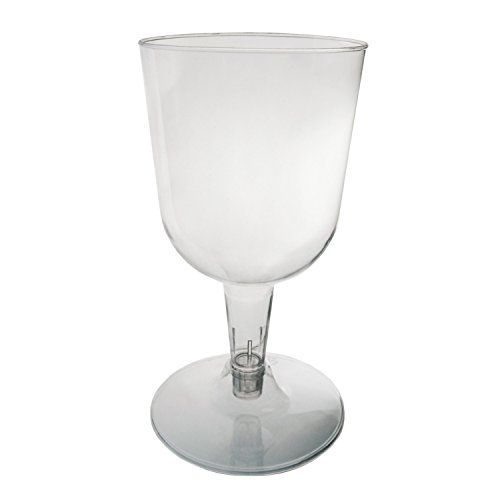 Party Essentials Hard Plastic Two Piece 5.5-Ounce Wine Glasses, 100-Count, Clear Party Essentials http://www.amazon.ca/dp/B00NCRK5EY/ref=cm_sw_r_pi_dp_bfpUwb03WG2CG