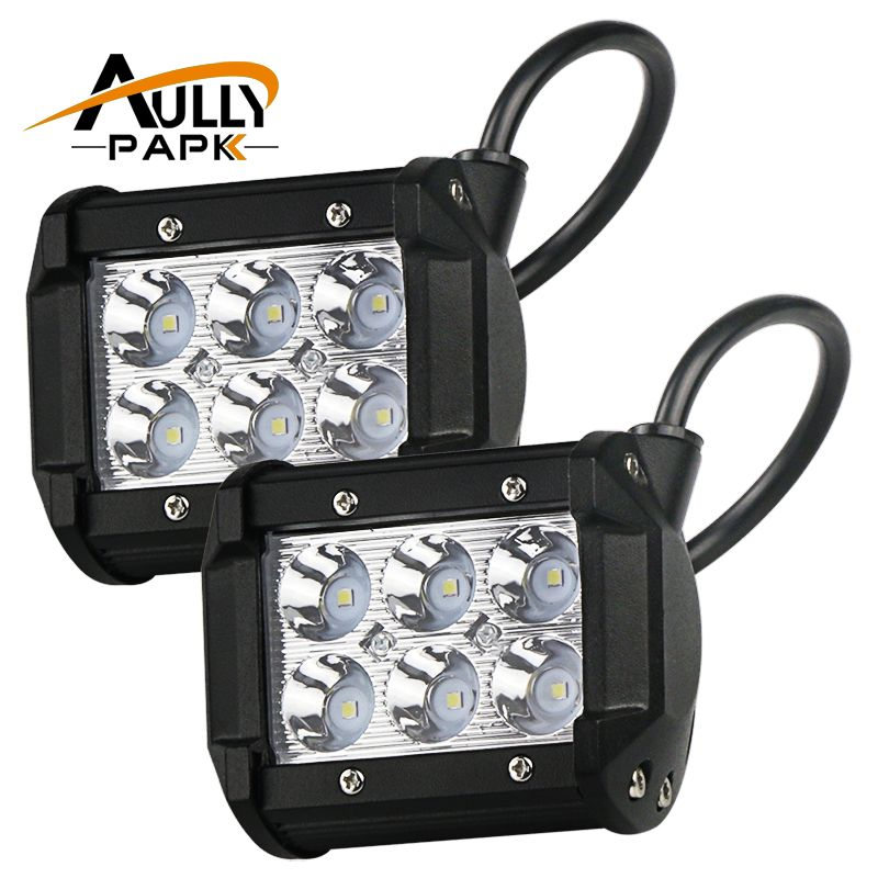 2 Pcs 4 Inch 18w Led Light Lamp For Car Motorcycle Automobiles Work Light Lamp 4wd 4x4 Truck Suv Atv Spot Flood 12 Led Light Lamp Led Lights Motorcycle Lights
