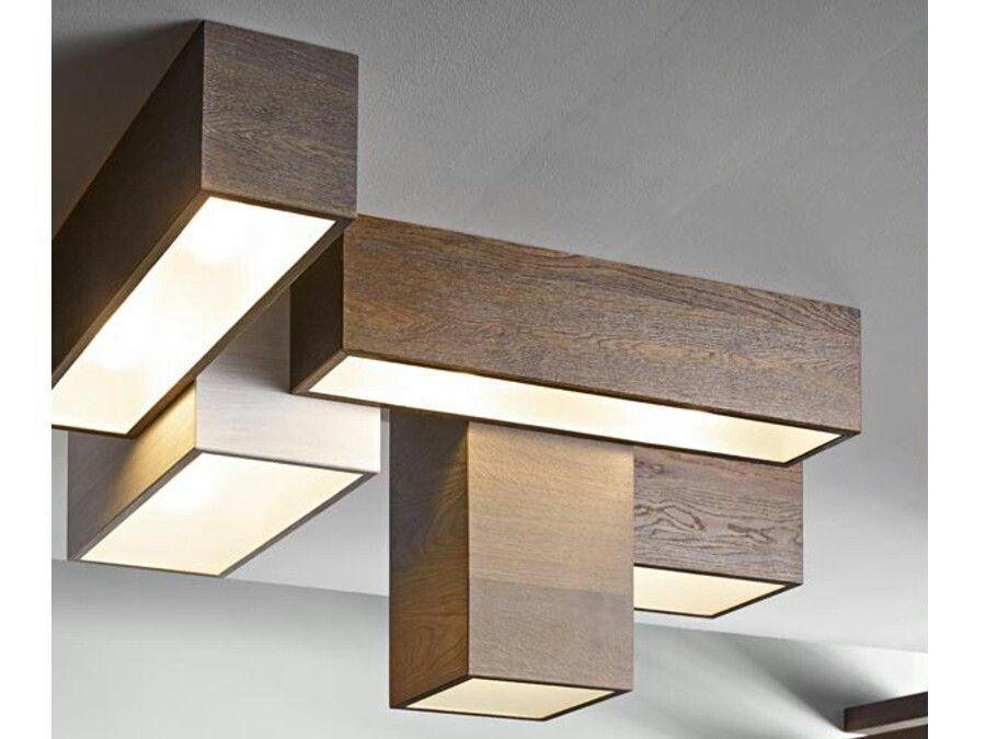Lampada da soffitto modulare in legno   FIEMME 3000