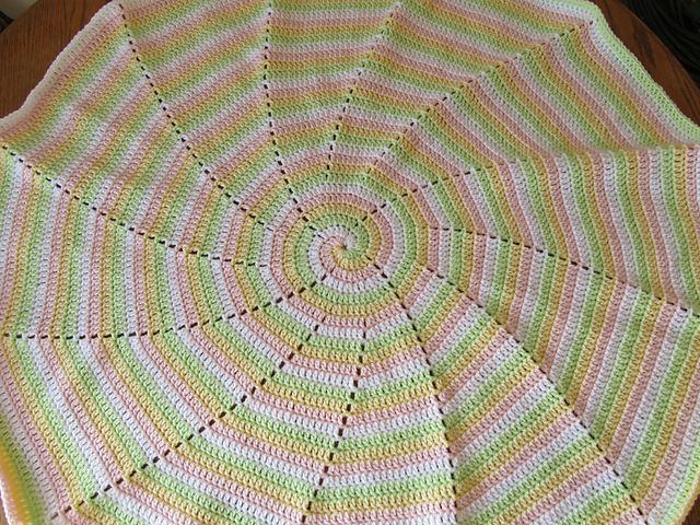 Free Crochet Spiral Baby Afghan Pattern Free Crochet Baby Cocoon