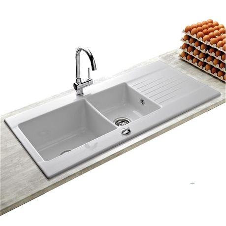 Votre cuisine mérite un évier de qualité ! Cet évier à encastrer en - evier cuisine ceramique a poser