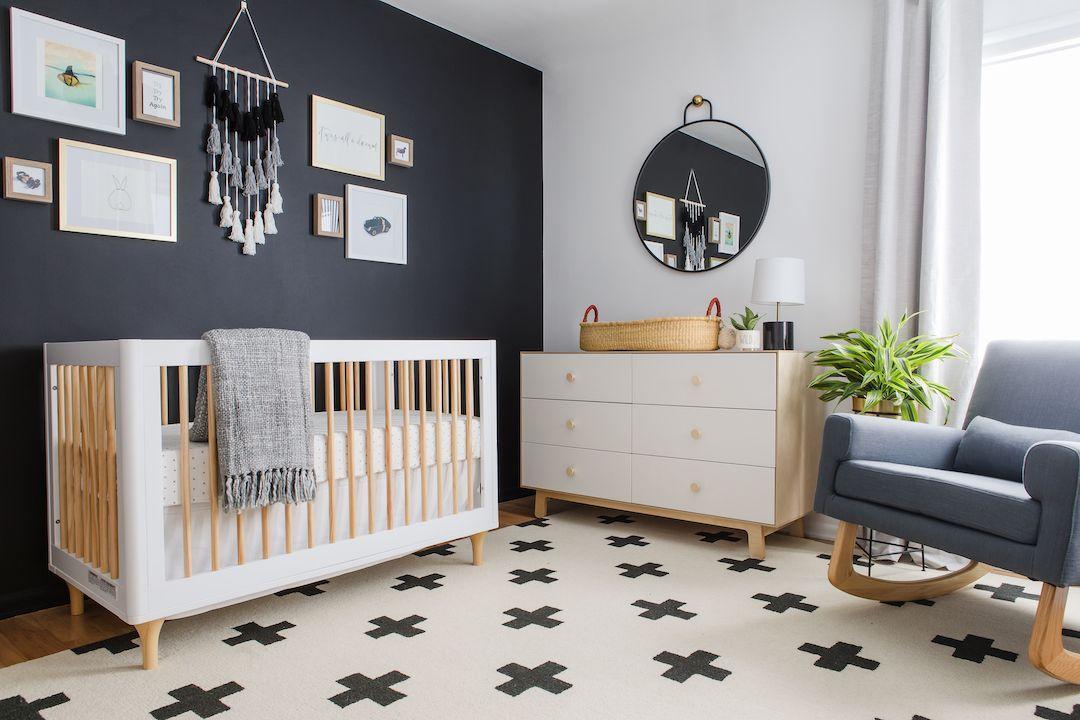 A Black White Scandinavian Nursery Reveal Project Nursery Gender Neutral Nursery Design Nursery Design Neutral Nursery Guest Room