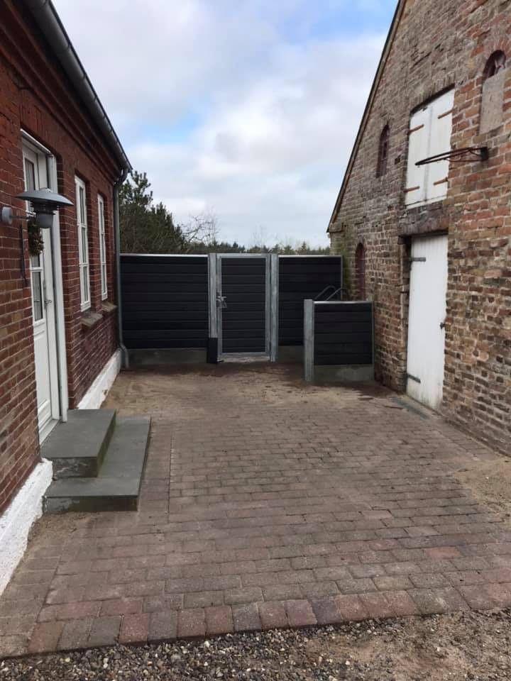Maintenance-free composite fence and steel door
