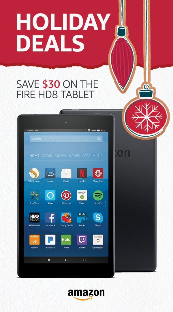 This Holiday Save 30 On The Fire Hd 8 Limited Time Offer Fire Tablets The Perfect Holiday Gift Tablet Fire Tablet Amazon Gift Card Free