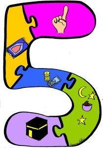 The Five Pillars of Reading Clip Art