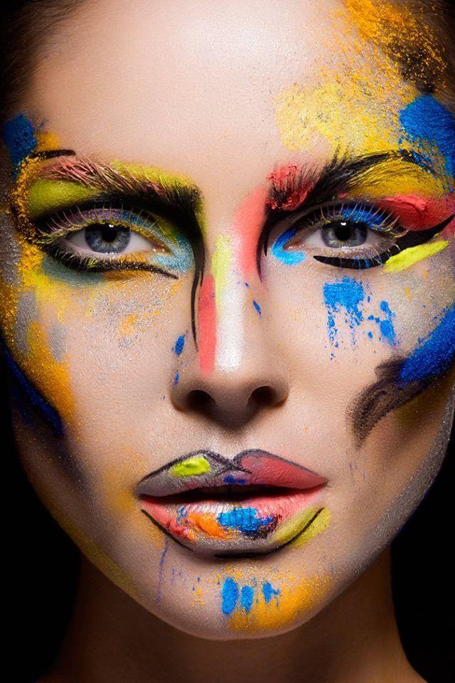 cubist makeup Cerca con Google Artistry makeup, Hair