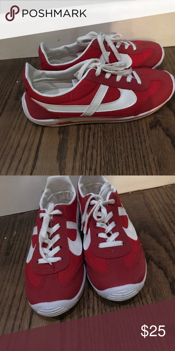 a472857134765 used once, red and white Bought in Mexico at the Panam shoe store ...