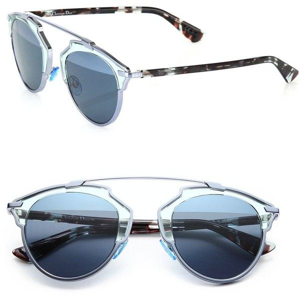 f9d2aff0f1 Dior So Real 48MM Pantos Sunglasses (5805 MAD) ❤ liked on Polyvore ...