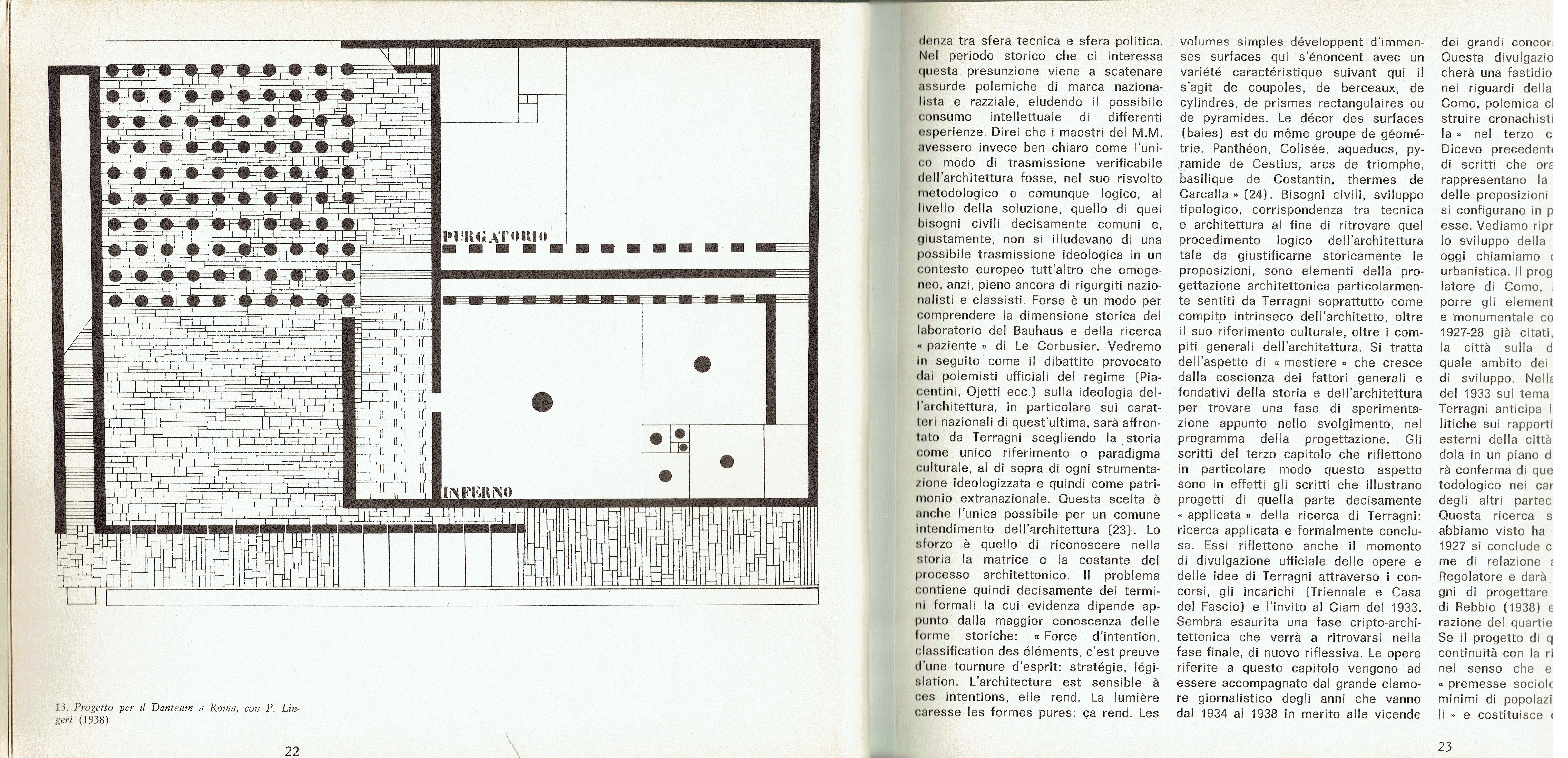 Giuseppe Terragni, Project for the Danteum, 1934 (Enrico Mantero ...