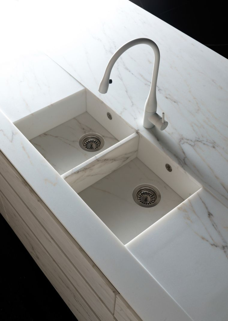 Credence Cuisine Marbre Blanc vasque marbre cuisine credence pierre design moderne