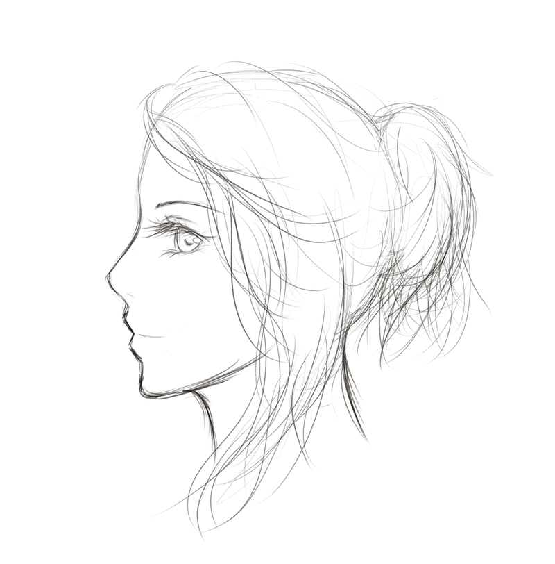 Art Sketch Drawing Sketch Side Profile by Maina11