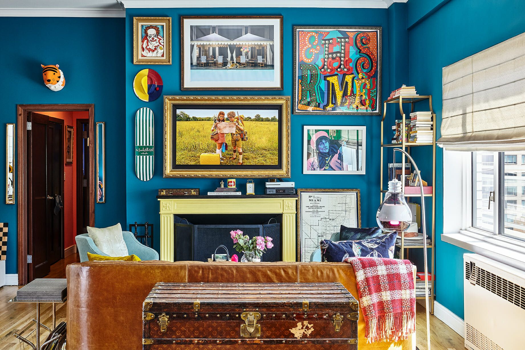 Tour An Apartment That Will Make You Want Turquoise Paint With