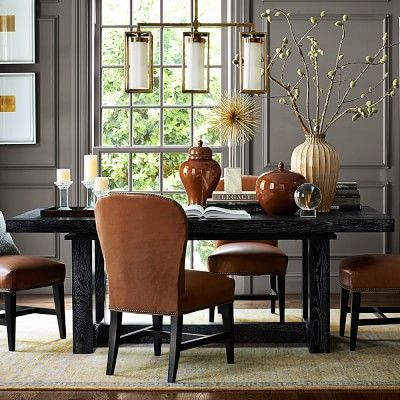 "Alden Rectangular Dining Table #williamssonoma Perfect Size 45""w X Best Size Of Dining Room Table For 10 Review"