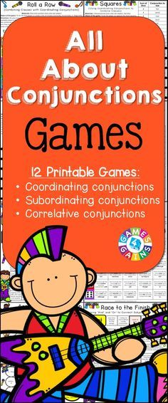 Looking for fun ways to practice conjunctions? This Conjunctions Games packet contains 12 fun and engaging printable board games to help students to practice coordinating conjunctions, subordinating conjunctions, and correlative conjunctions!