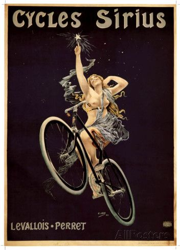 "/""Cycle Gladiator/"" 18x24 Classic 1895 Art Nouveau Classic Bicycle Poster"