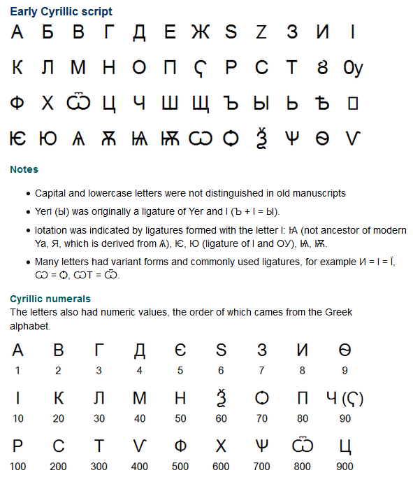 The Cyrillic script is named after Saint Cyril, a missionary