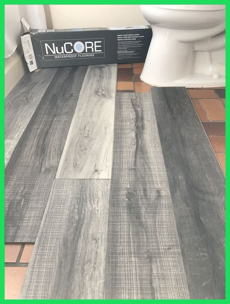 Vinyl Plank Flooring That S Waterproof Lays Right On Top Of Your Existing Floor Love Th Restroomremodel In 2020 Toilet And Bathroom Design Grey Vinyl Plank Flooring Allure Vinyl Plank Flooring