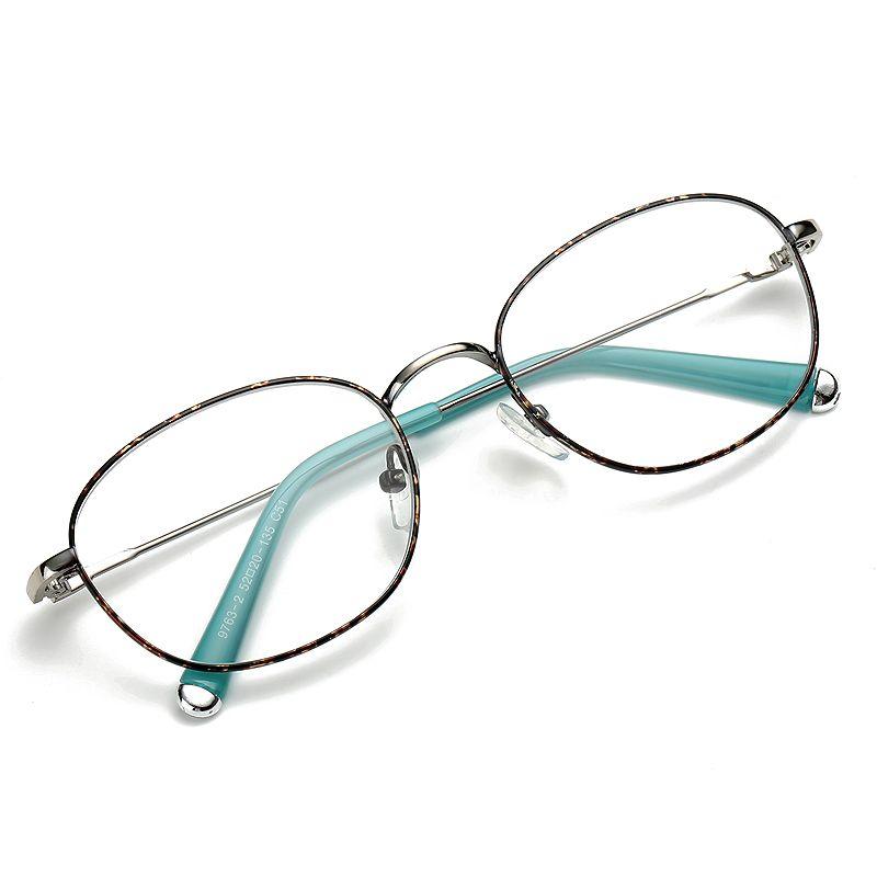 Oval Thin Metal Glasses Frames Clear Lens Fake Optical Glasses ...