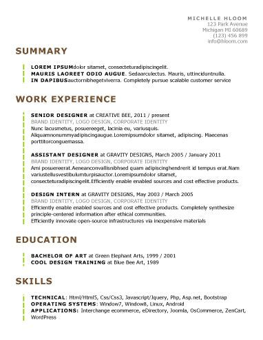 89 Best yet Free Resume Templates for Word Pinterest Template - Effective Resume Templates