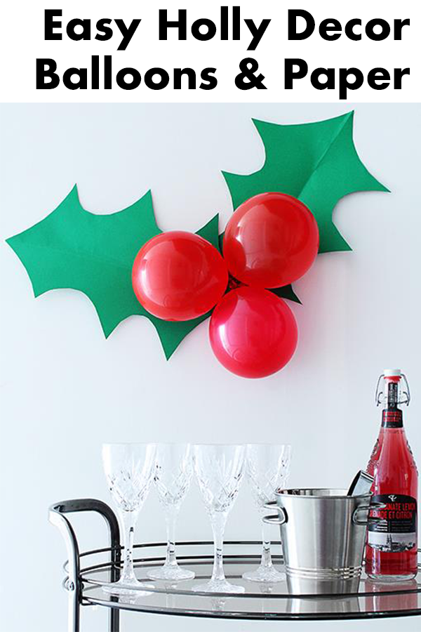 Giant Festive Holly Decoration Holly Decorations Work Christmas