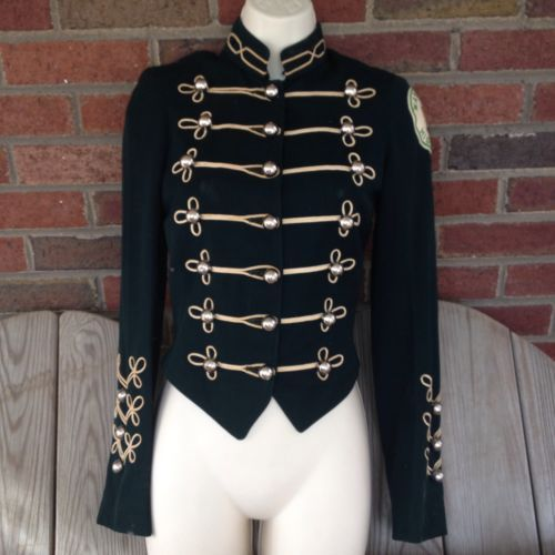 Vintage Band Jacket Military Tails Sgt Pepper XS Green Tigers Steampunk