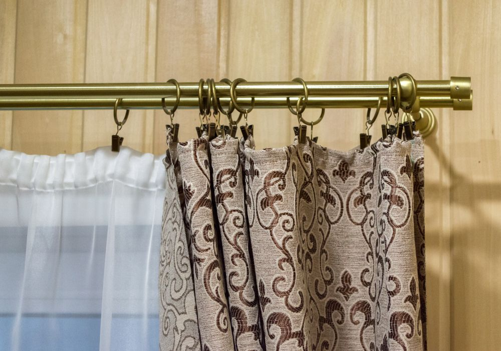 Classic Brass Tubing Thickest 0 125 12 Ft Length In 2020 Drapery Rods Curtain Rods Shower Rods