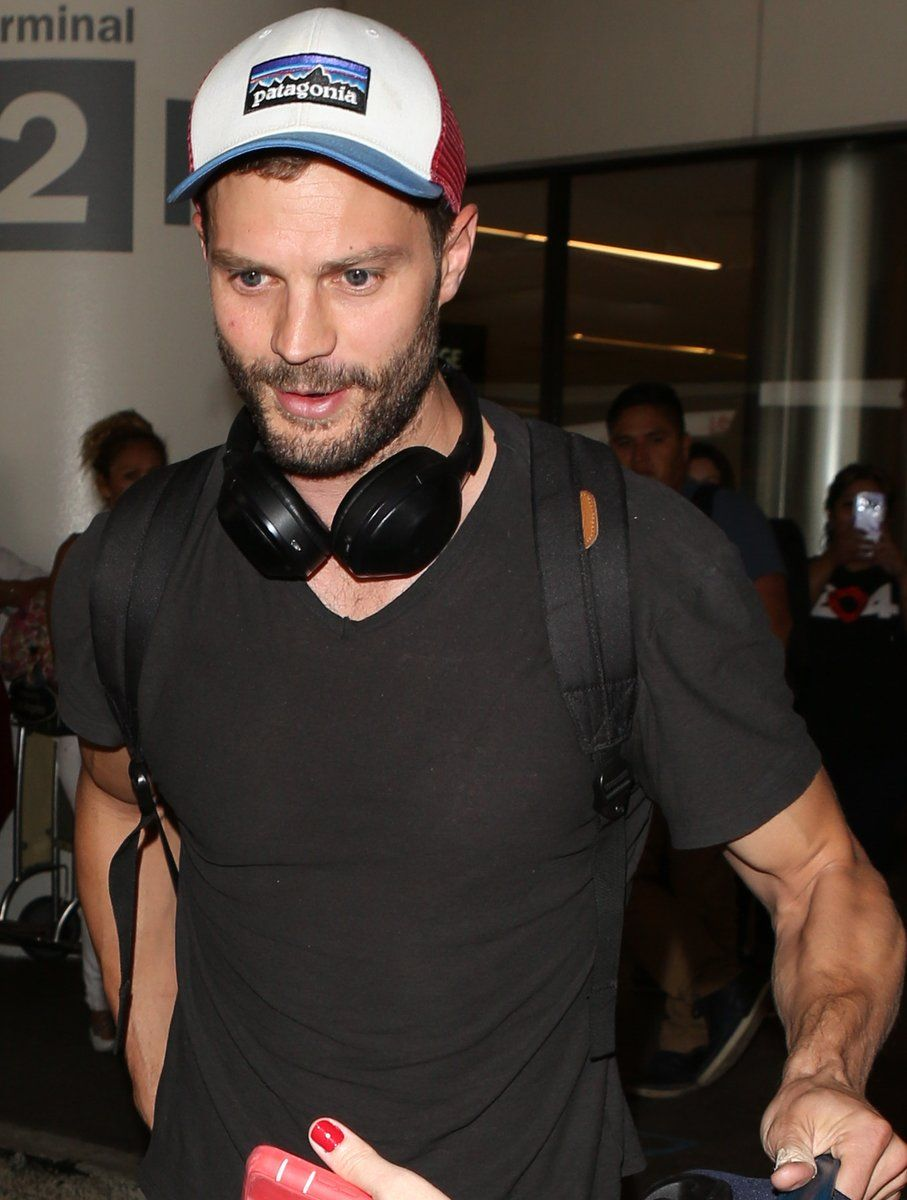 Jamie was spotted arriving at the airport in Los Angeles. [August 1St]