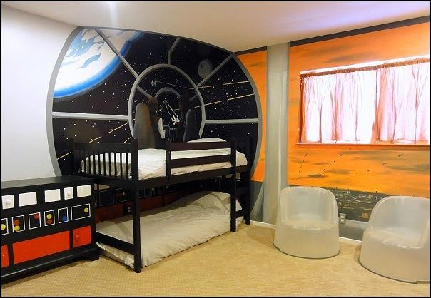 20 Cool Star Wars Themed Bedroom Ideas Housely Space Themed Bedroom Bedroom Themes Star Wars Themed Bedroom