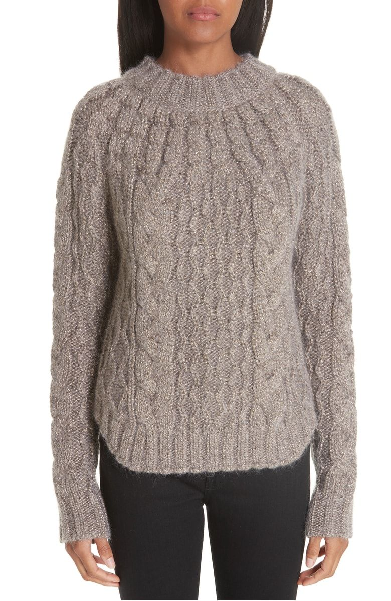 fe1bdb544fd Metallic Cable Knit Sweater, Main, color, White Gold | Wantable ...