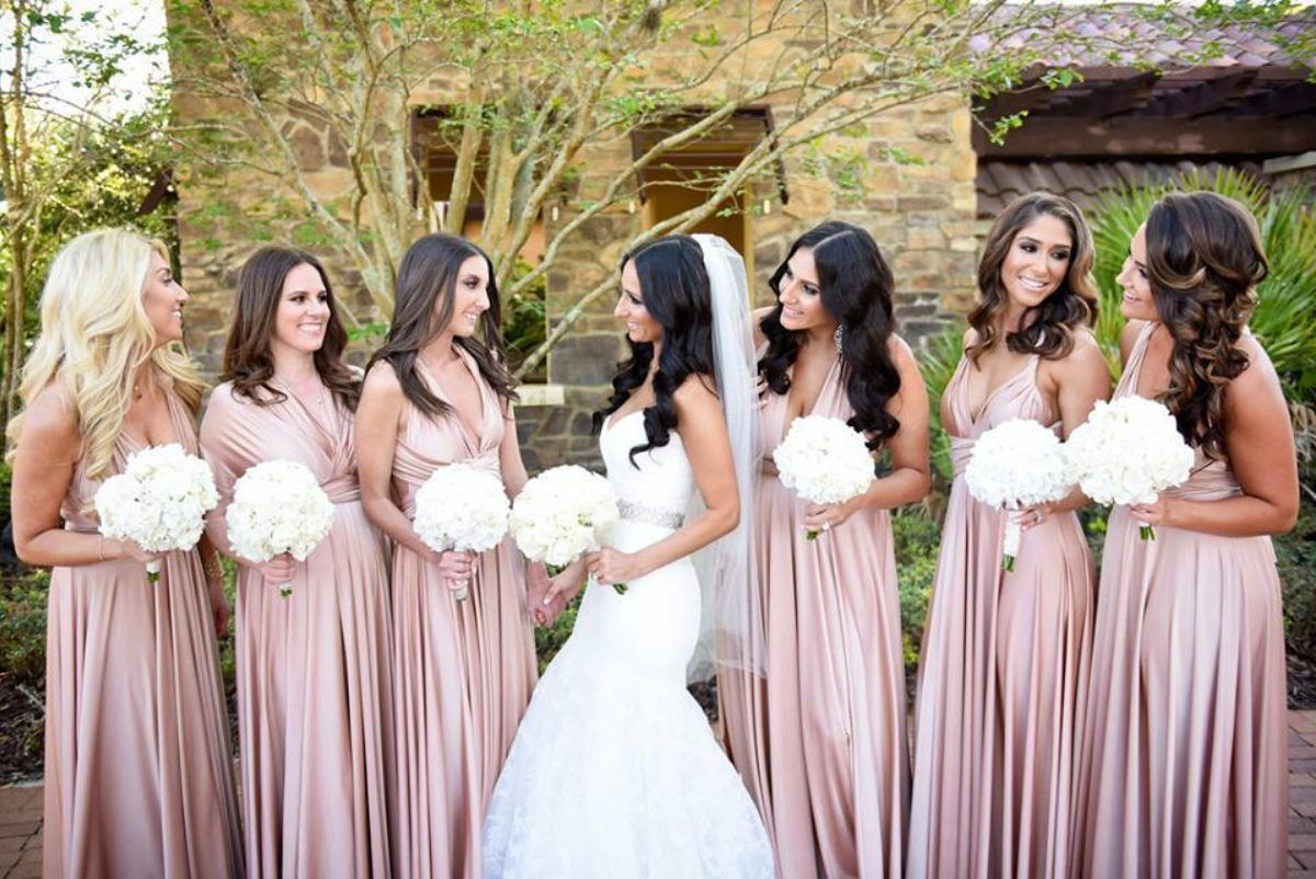 Rosewater neutral twobirds bridesmaid dresses a real wedding rosewater neutral twobirds bridesmaid dresses a real wedding featuring our multi way convertible ombrellifo Choice Image