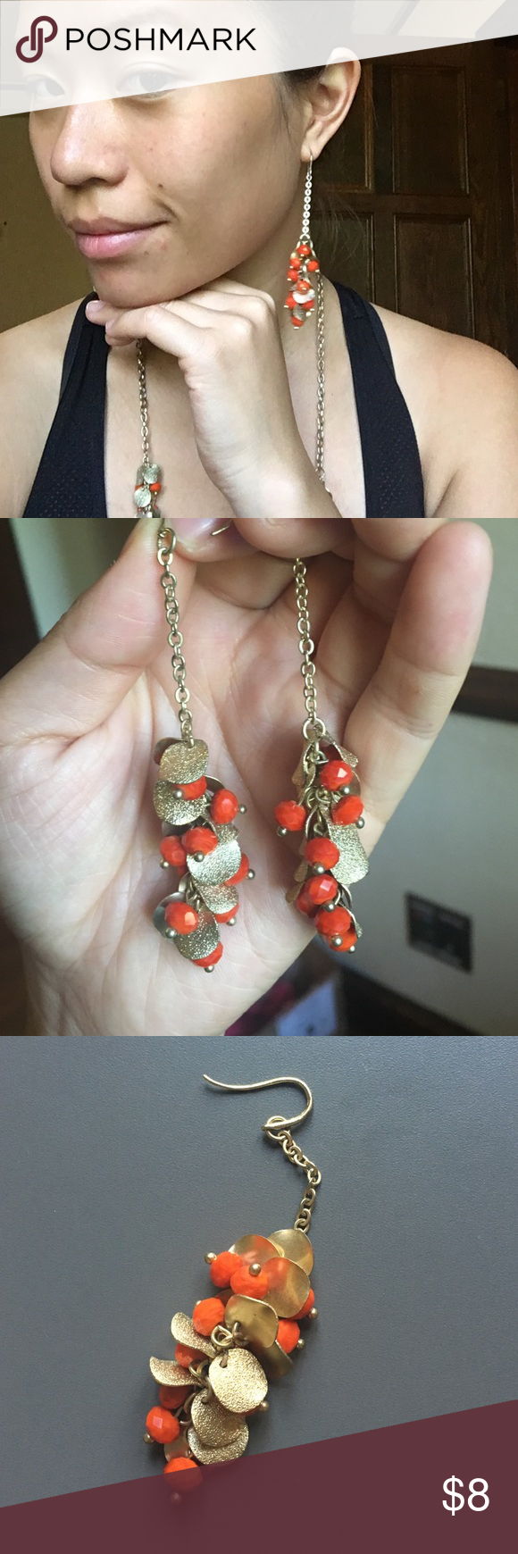 Dangly earrings The orange is a great pop of color. Elegant earrings that you can bundle with the matching necklace! Macy's Jewelry Earrings
