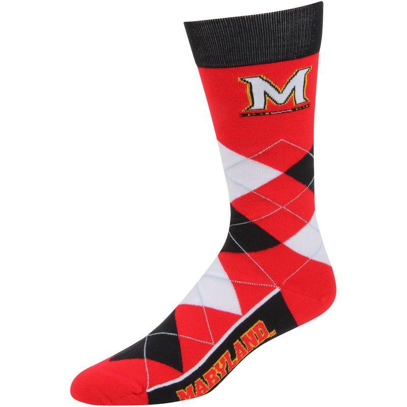 Maryland Terrapins For Bare Feet Argyle Crew Socks