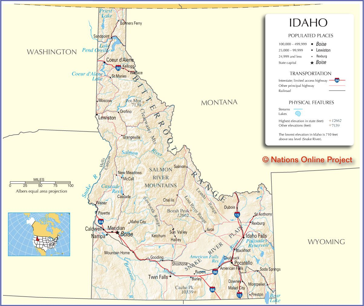 Idaho Map Reference Map Of Idaho Map Is Based On A State Idaho - Map of idaho