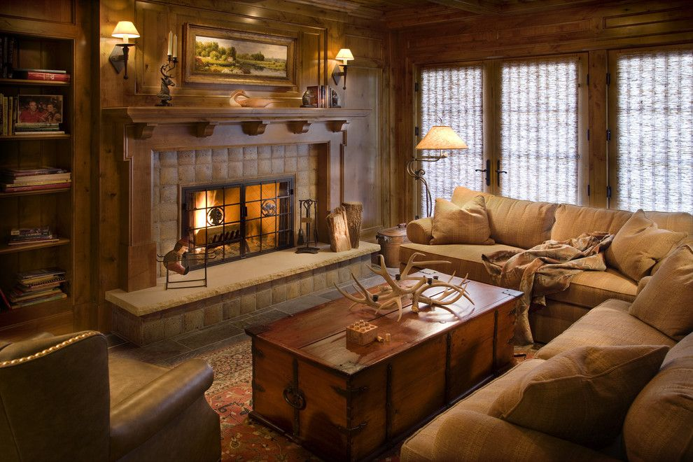 Cozy Style Living Rooms Get A Rustic Lodge Room Makeover