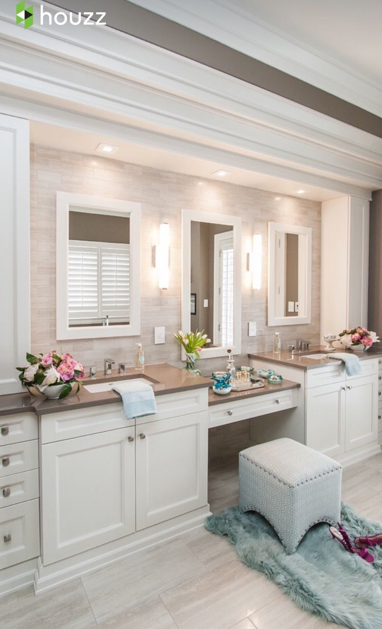 Sitting Area By Vanity Bathroom Remodel Master Traditional