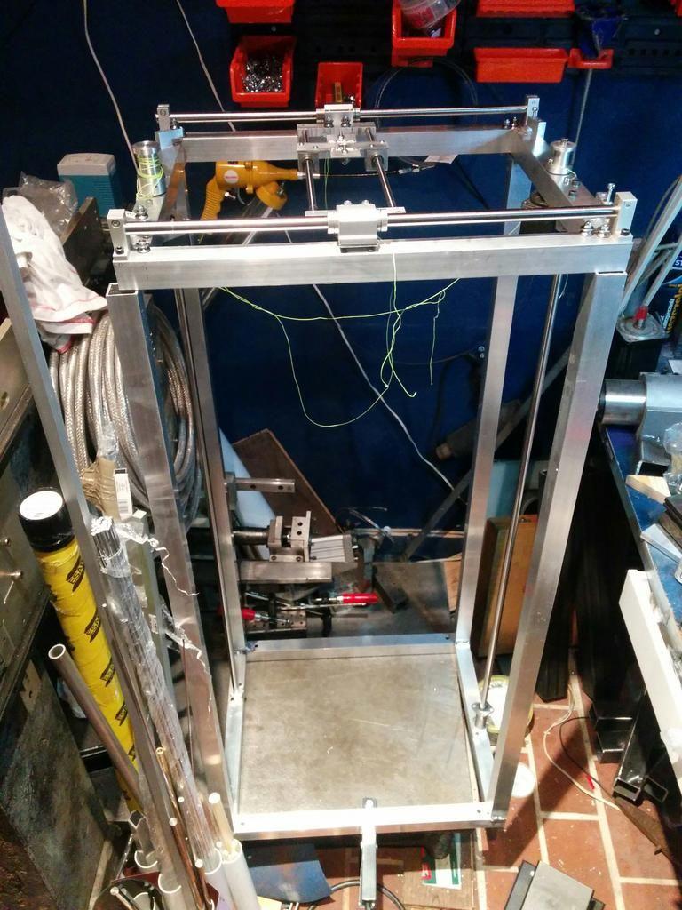 Dual wire gantry 3d printer We Make Robots my diy
