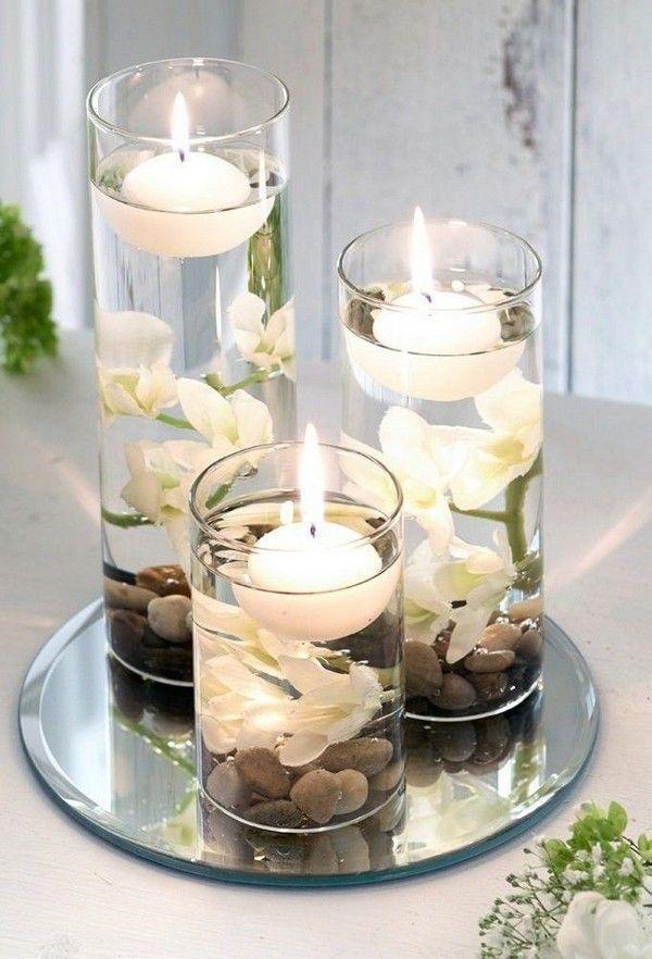 20 Floating Wedding Centerpiece Ideas Candle Wedding