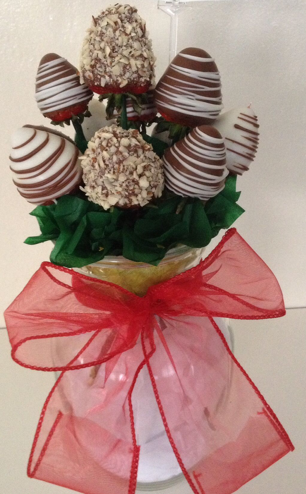 Chocolate covered strawberry bouquet