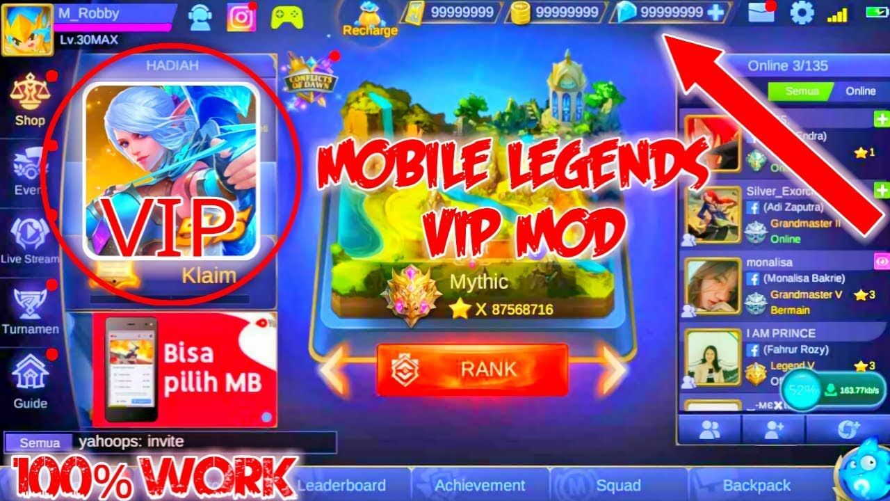 Cara Download Vip Mod Apk Mobile Legend Hack Terbaru No Root
