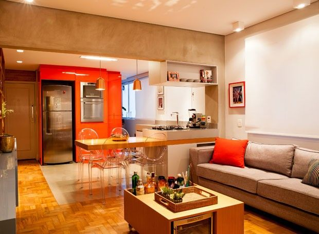 Apartamento pequeno e antigo se renova com ambientes for Pisos para apartamentos pequenos