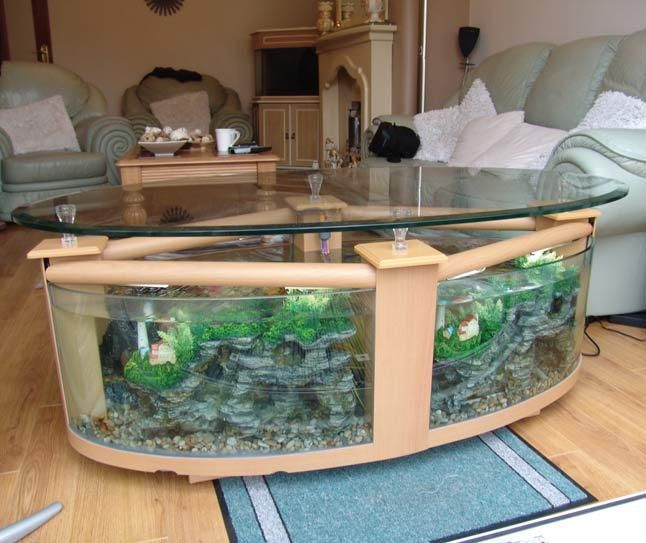 fish tank coffee table uk Table Designs Plans Pinterest Fish