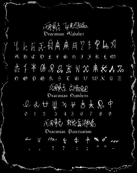 Draconian Script By Dblackthorne Rune Alphabet Witches Alphabet