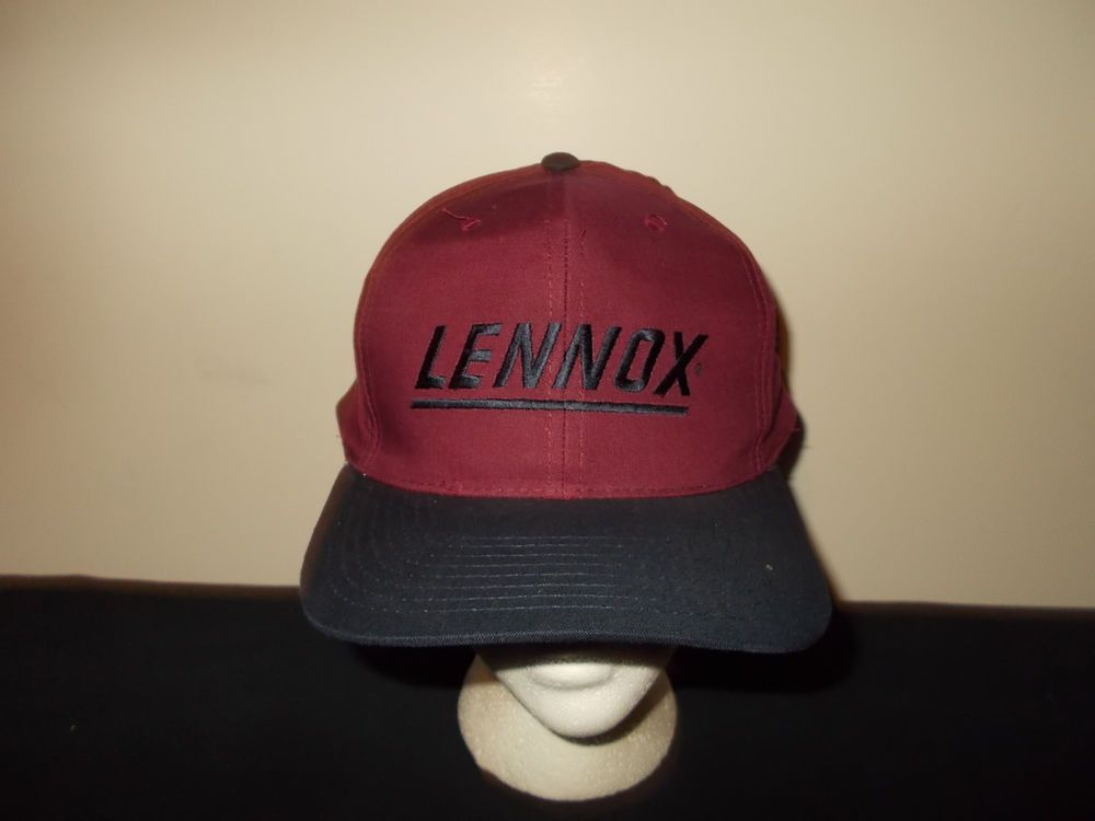 Vtg 1990s Lennox Furnace A C Heating Cooling Snapback Hat Sku3